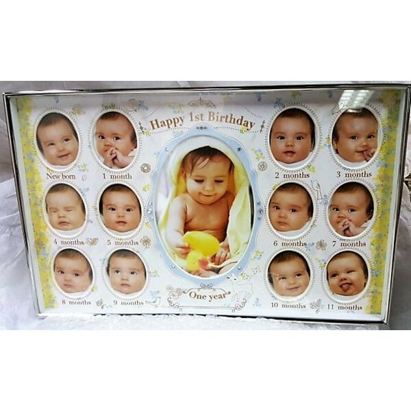 Bate Baby First Birthday Collage Picture Frame by Harriet Bee