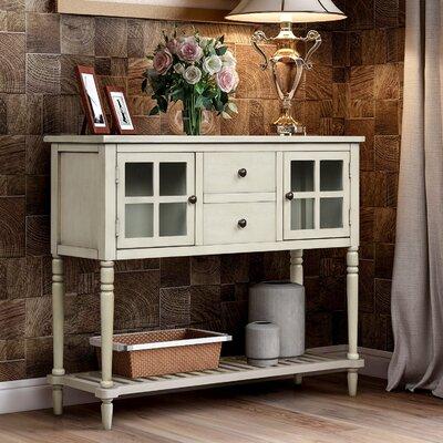 """Longshore Tides Gehring 42"""" Wide 2 Drawer Wood Serverr  Color: Antique Grey"""