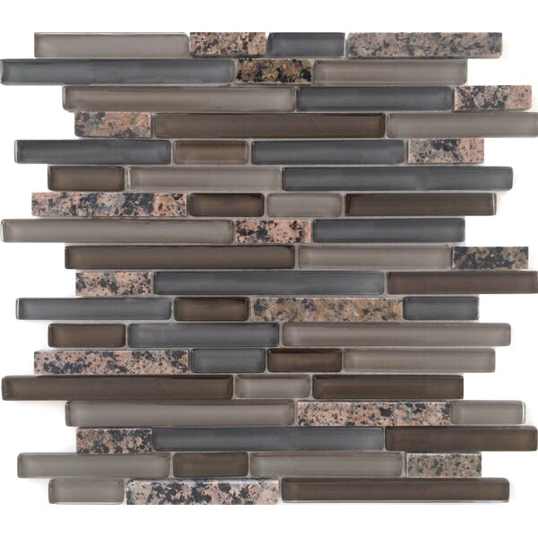 Random Sized Stone and Glass Mosaic Tile in Tropical Brown Mixed by Epoch Architectural Surfaces