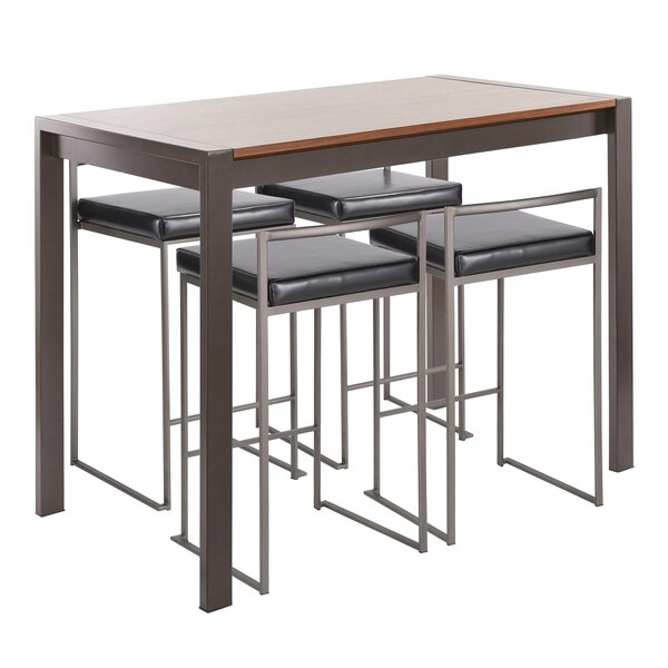 Gary 5 Piece Counter Height Dining Set by Wade Logan