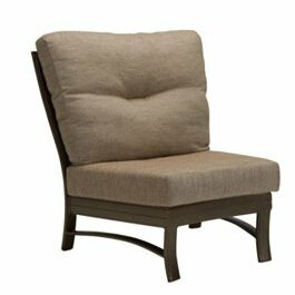 Ravello Crescent Module Patio Chair with Cushions by Tropitone
