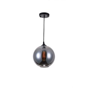 Reviews Glass 1-Light Pendant By CWI Lighting