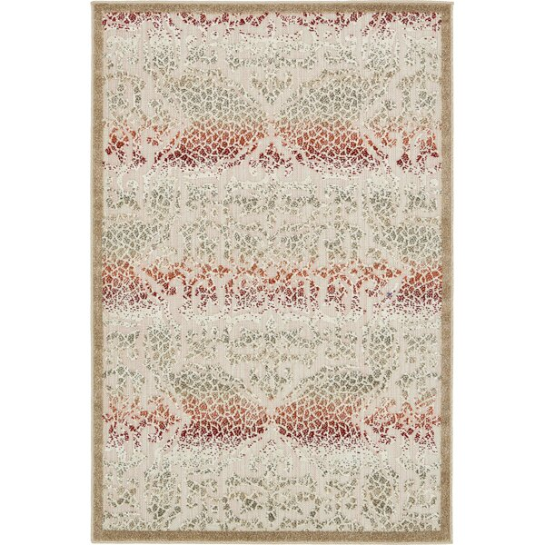 Lorenza Beige Indoor/Outdoor Area Rug by Ebern Designs