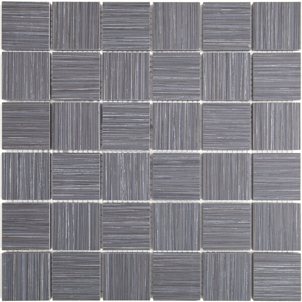 Fabrique 12 x 12 Porcelain Wood Look Tile in Noir Linen by Daltile
