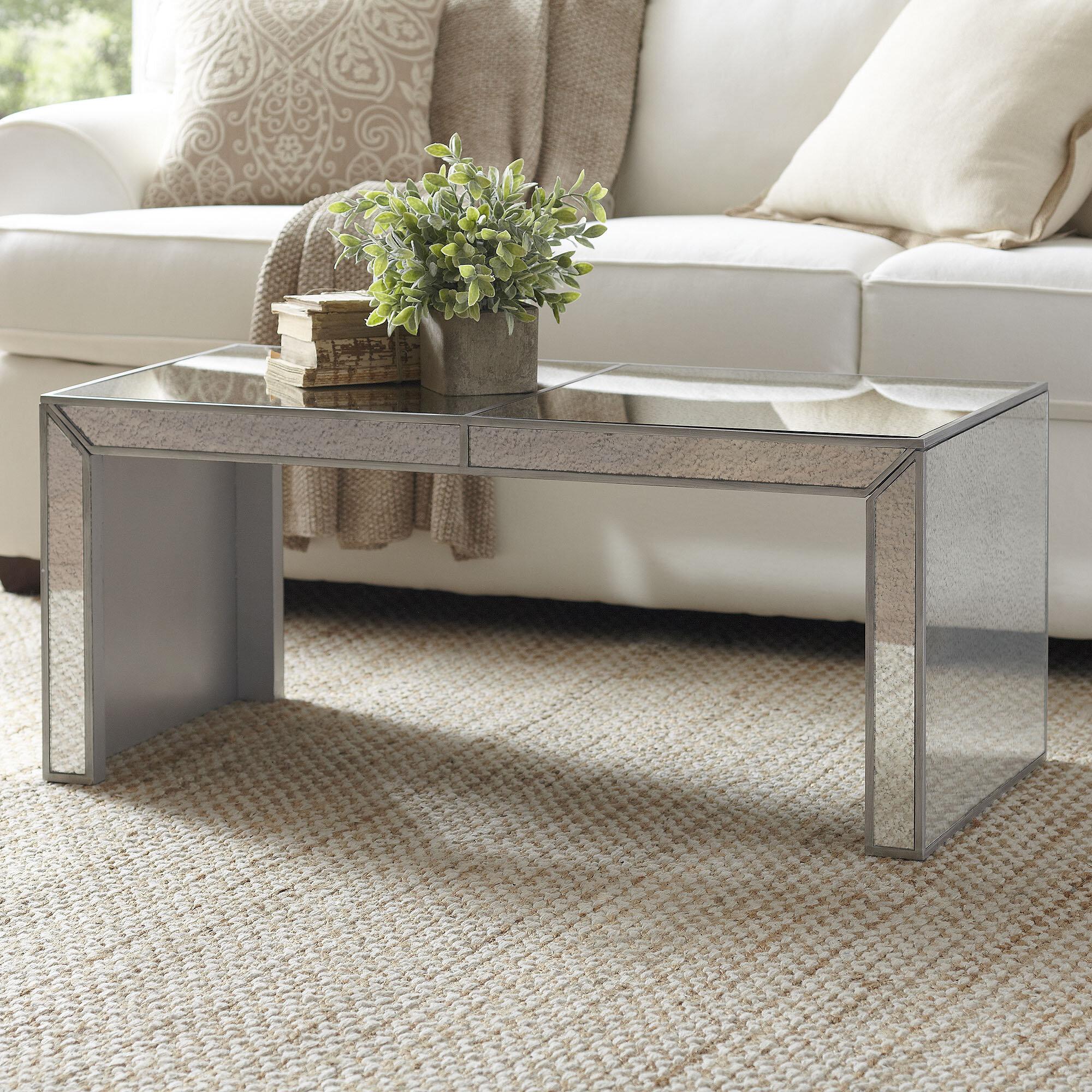 Elliott Mirrored Coffee Table & Reviews