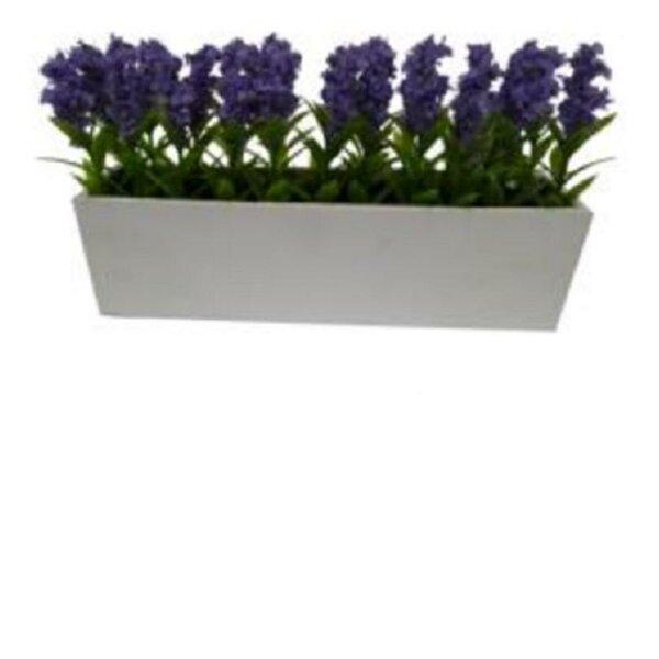 Artificial Lavender Floral Arrangement in Planter by Ophelia & Co.