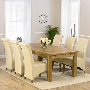 Essgruppe Ritual mit ausziehbarem Tisch und 6 Stühlen von Home Etc