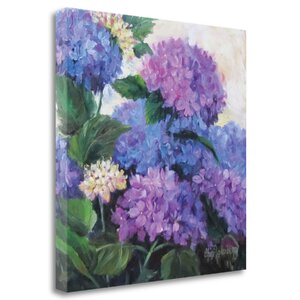 'Hydrangea' by Cheri Wollenberg Painting Print on Wrapped Canvas by Tangletown Fine Art