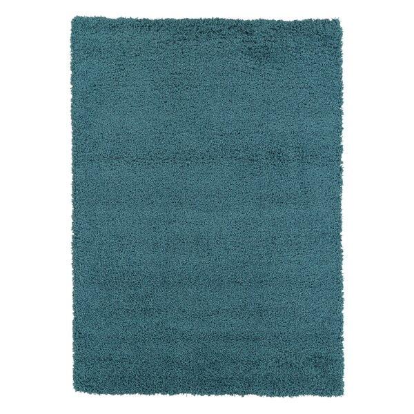 Starkes Turquoise Blue Shaggy Area Rug by Charlton Home