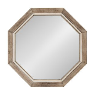 Union Rustic Proctor Large Wooden Octagon Wall Mirror