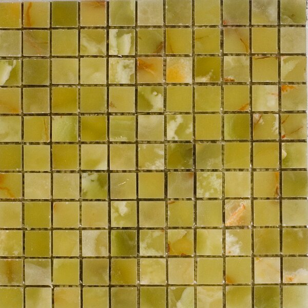 1 x 1 Onyx Mosaic Tile in Verde by Epoch Architectural Surfaces