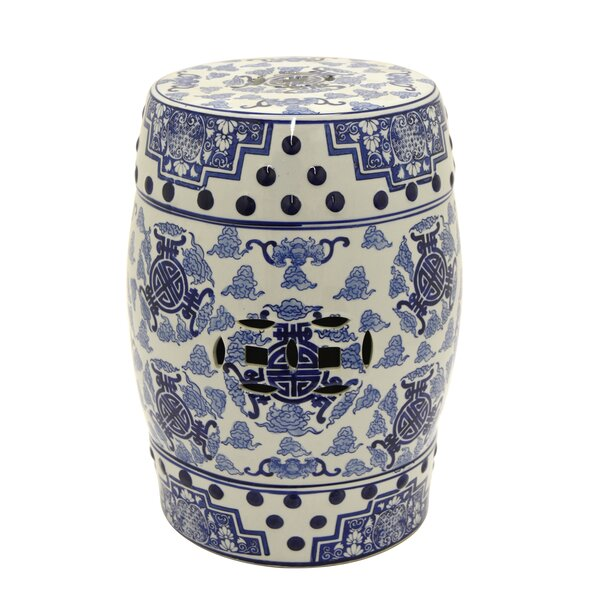 Malgosia Ceramic Garden stool by Bloomsbury Market