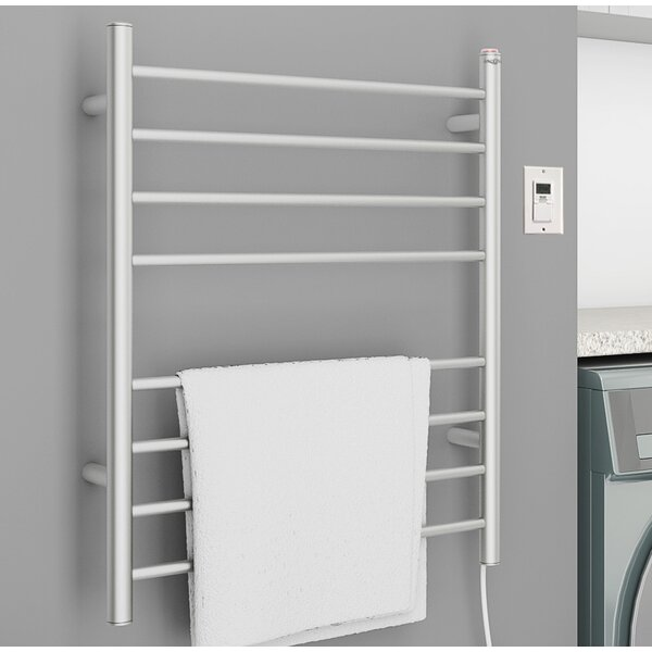 Prestige Dual 8-Bar Wall Mounted Electric Towel Warmer with Timer by Ancona