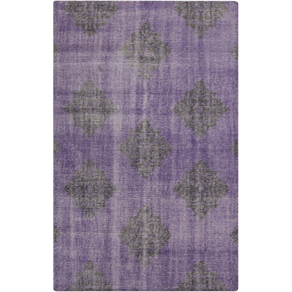 Ritesh Damask Violet Area Rug by Bungalow Rose
