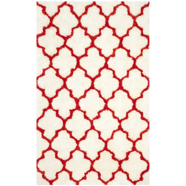 Sheriff Hand-Tufted Ivory\Rust Area Rug by Brayden Studio