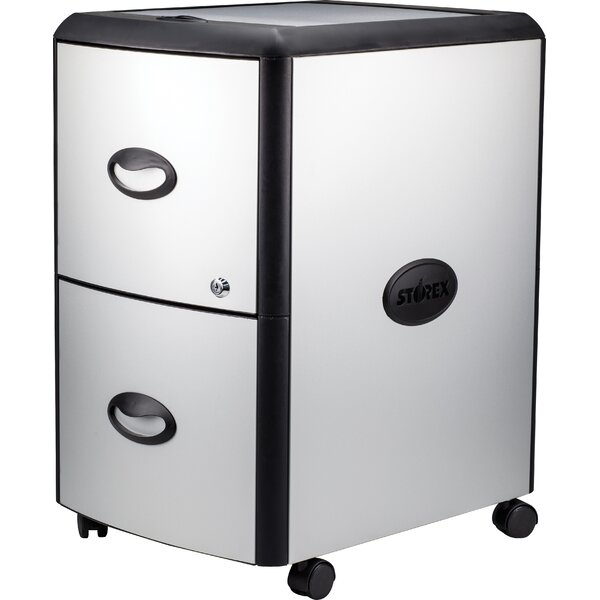 2-Drawer Mobile Vertical Filing Cabinet by Rebrilliant