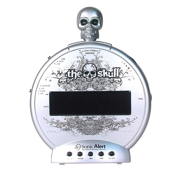 Skull Tabletop Clock by Symple Stuff