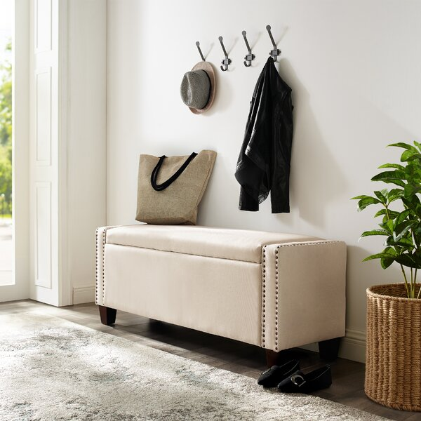 Monona Upholstered Flip Top Storage Bench by House of Hampton