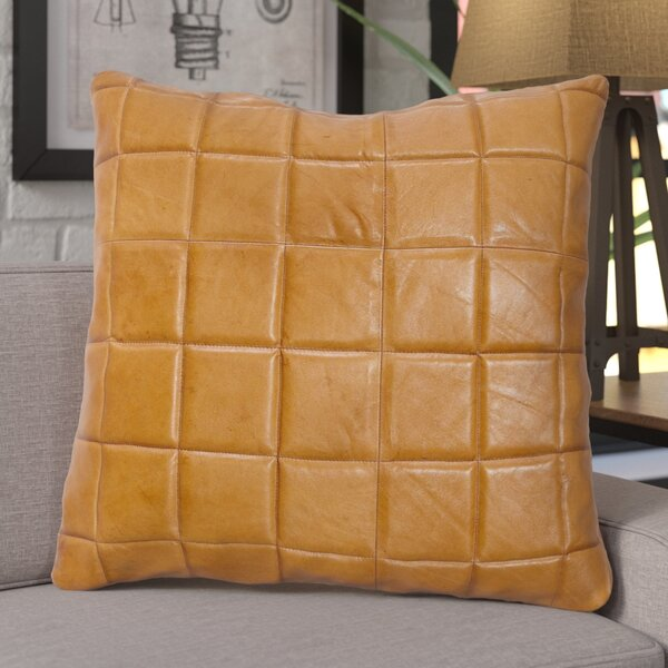 Loven Leather Square Pillow by Trent Austin Design