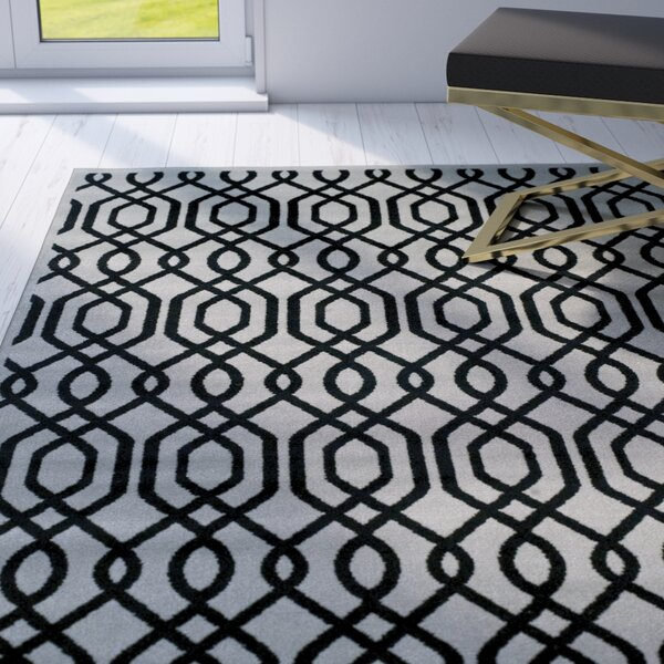 Bellucci Black/Gray Area Rug by Mercer41