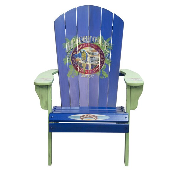 Port of Indecision Wood Adirondack Chair by Margaritaville