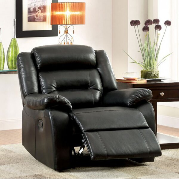 Rittenhouse Leather Manual Rocker Recliner by Latitude Run
