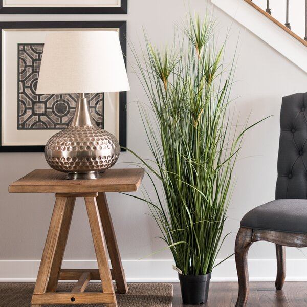 Artificial Straight Foliage Grass in Pot by Bay Isle Home