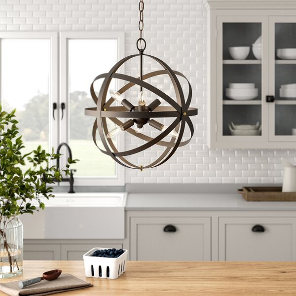 Bouvet 6 - Light Unique / Statement Globe Chandelier By Laurel Foundry Modern Farmhouse