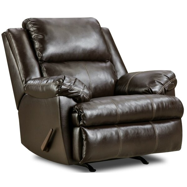 Maples Upholstery Espresso Rocker Recliner