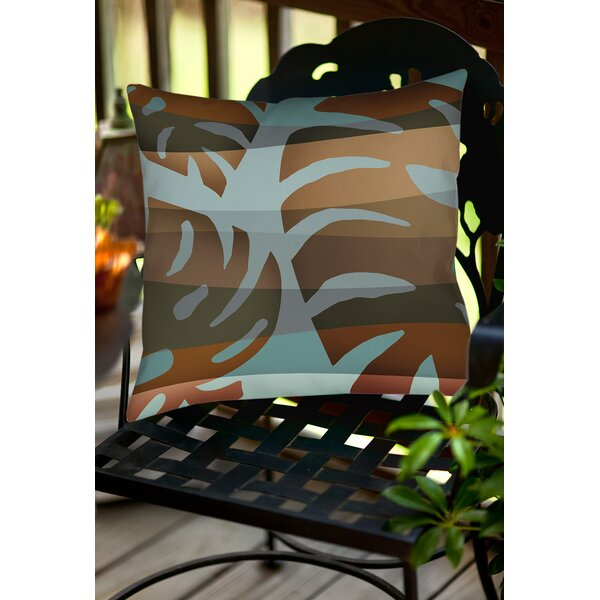 Tropical Leaf 4 Indoor/Outdoor Throw Pillow by Manual Woodworkers & Weavers