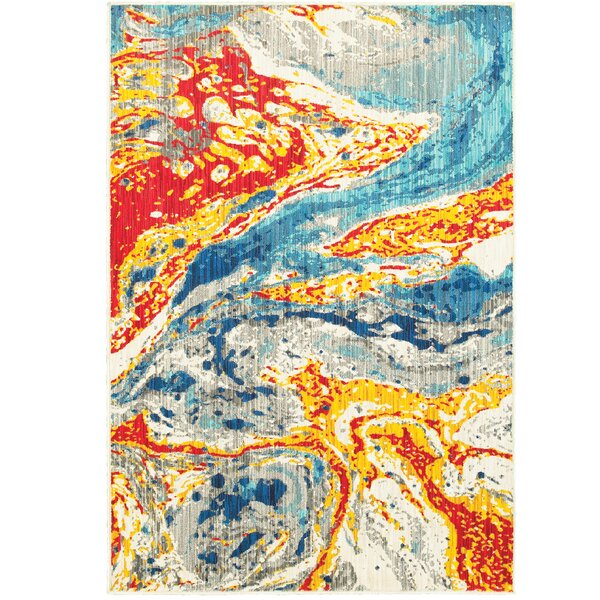Rarick Yellow/Red/Blue Area Rug by Latitude Run