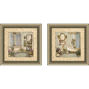 Her Sanctuary' 2 Piece Framed Acrylic Painting Print Set Under Glass by Ophelia & Co.