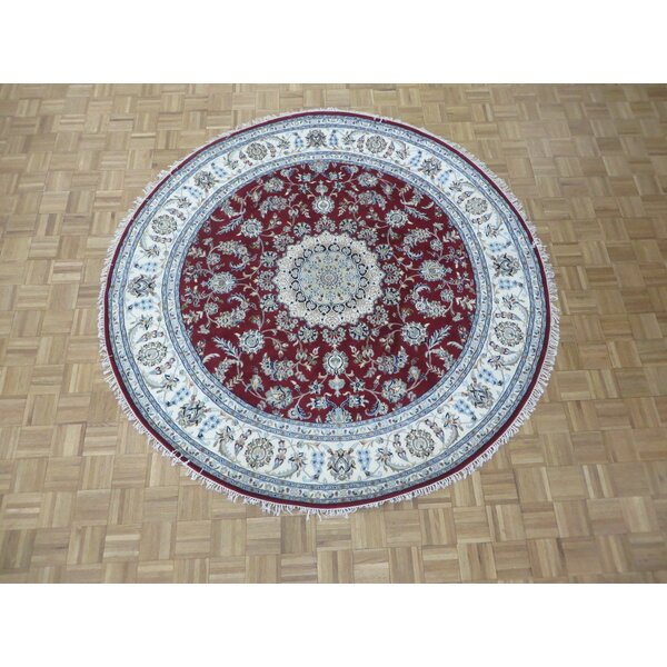 One-of-a-Kind Padro Nain Hand-Knotted Wool Red Area Rug by Bloomsbury Market