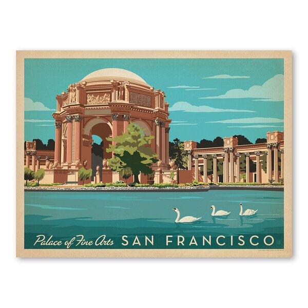 San Francisco Palace Fine Art Vintage Advertisement by East Urban Home
