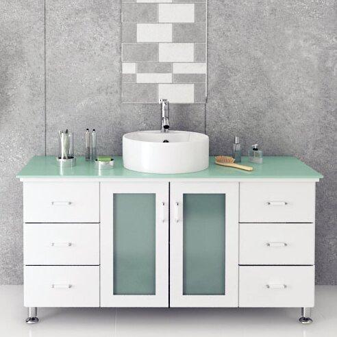 Grand Lune 47 Single Vessel Modern Bathroom Vanity Set by JWH Living