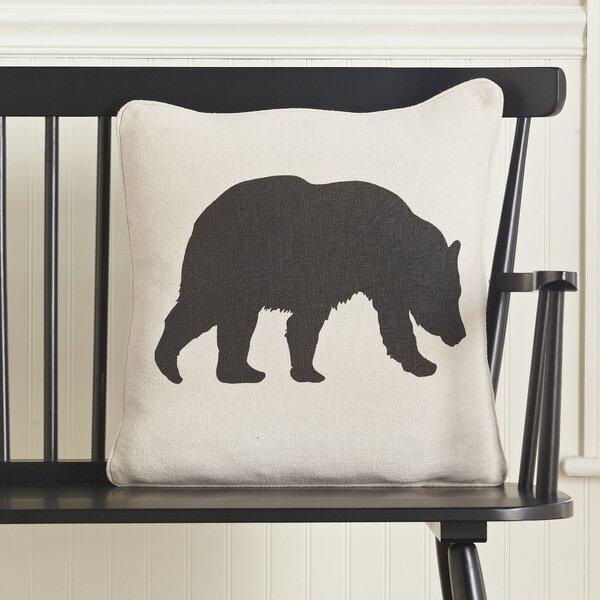 Bear Silhouette Pillow Cover by Birch Lane™