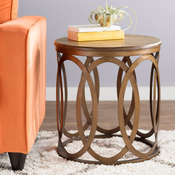 Bleich End Table By Ivy Bronx