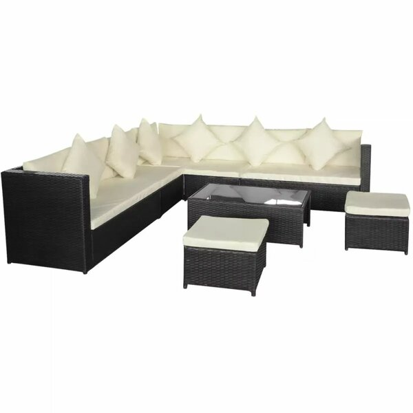 Uppingham Garden 8 Piece Sectional Seating Group with Cushions by Ivy Bronx