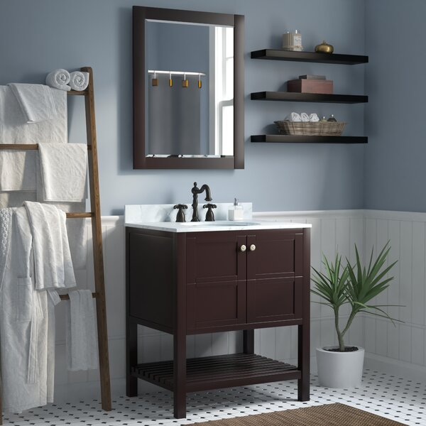 Bathroom Vanities You'll | Wayfair on a bathroom with shower, a bathroom sink, a bathroom mirror,
