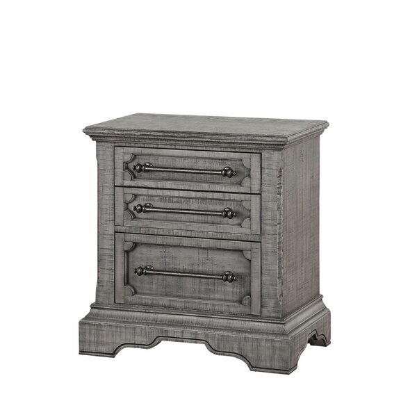 Candice 3 Drawer Nightstand by One Allium Way