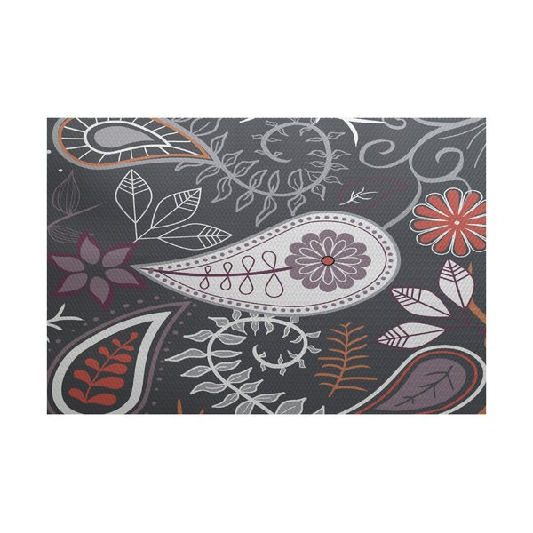 Vinoy Gray Indoor/Outdoor Area Rug by Bungalow Rose
