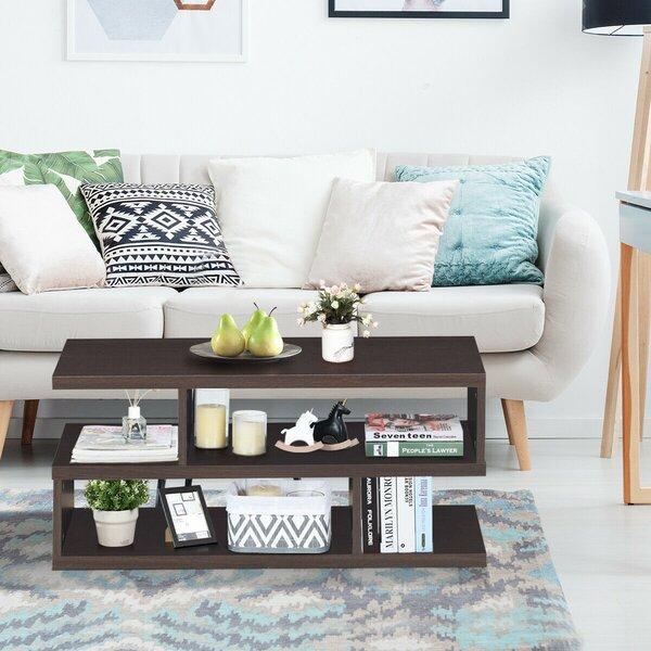 Ibaka Floor Shelf Bunching Table With Storage By Wrought Studio