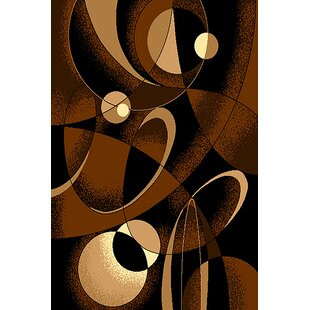 Order Cote Chocolate/Black Area Rug ByEbern Designs