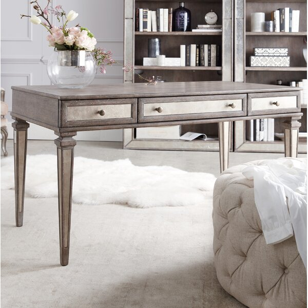 Rustic Glam Leg Writing Desk by Hooker Furniture