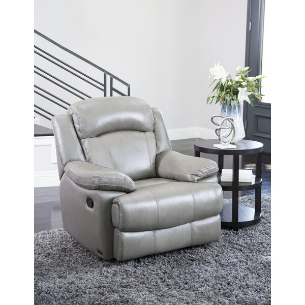 Arabian Leather Manual Recliner by Andover Mills