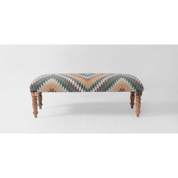 Chu Upholstered Bench by Bungalow Rose