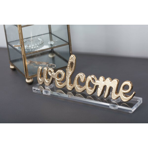 Aluminum/Acrylic Welcome Letter Blocks (Set of 2) by Cole & Grey
