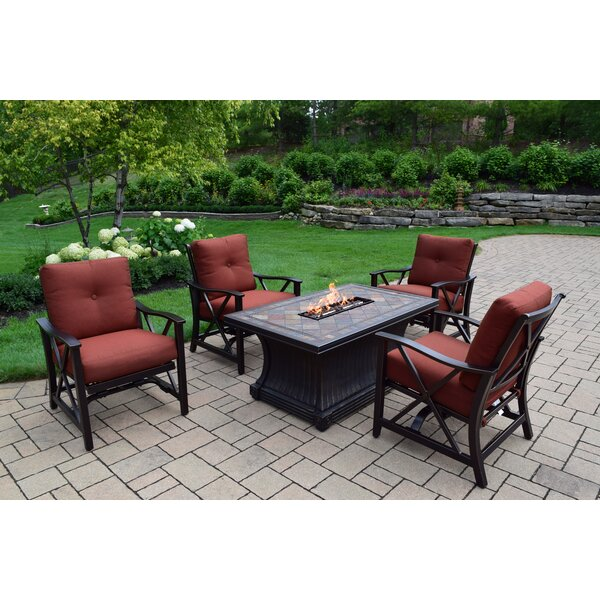 Norfleet 5 Piece Conversation Set with Cushion by Red Barrel Studio
