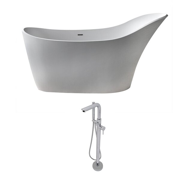 Alto 67.5 x 28.75 Freestanding Soaking Bathtub by ANZZI