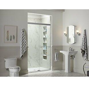 Great Price Revel 59.63'' x 70'' Double Sliding Shower Door with CleanCoat® Technology ByKohler